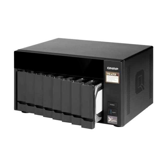 Details about QNAP TS-873-4G-US AMD R-Series RX-421ND 2 1GHz/ 4GB DDR4/  4GbE/ 8SATA3/ USB3 0/