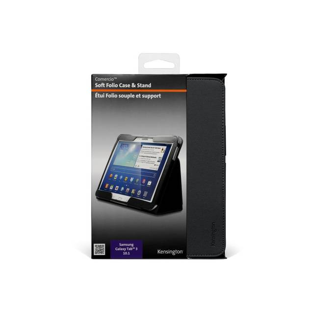 "Kensington K97096WW Comercio 10.1/"" Soft Folio Case /& Stand for Galaxy Tab 3"